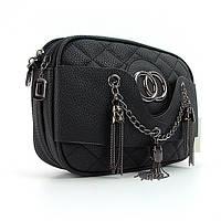 Черная маленькая сумочка кросс-боди на плечо, фото 1