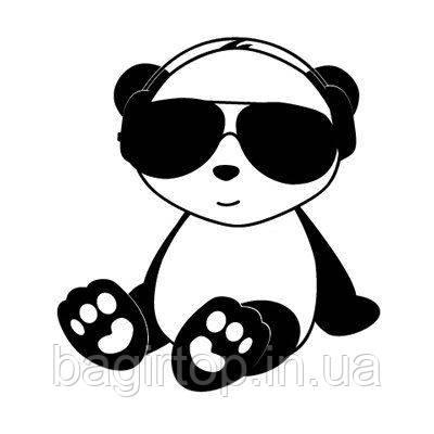 Виниловая наклейка-Мишка в очках