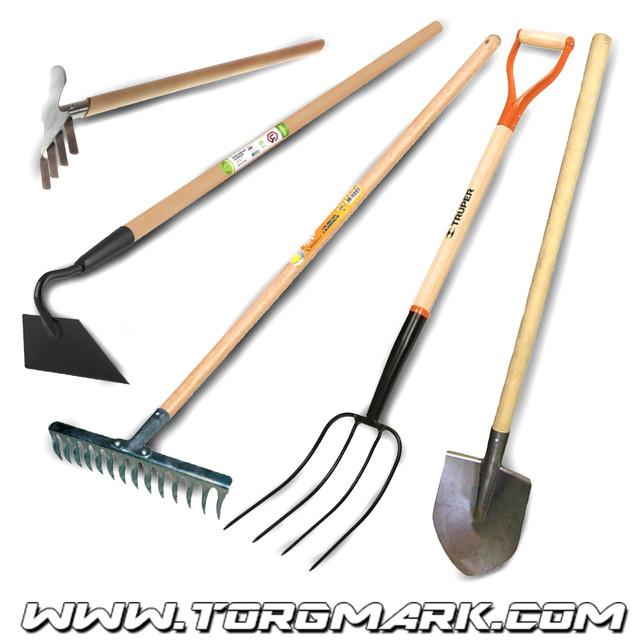 Грабли, вилы, лопаты, сапки, тяпки, мотыги