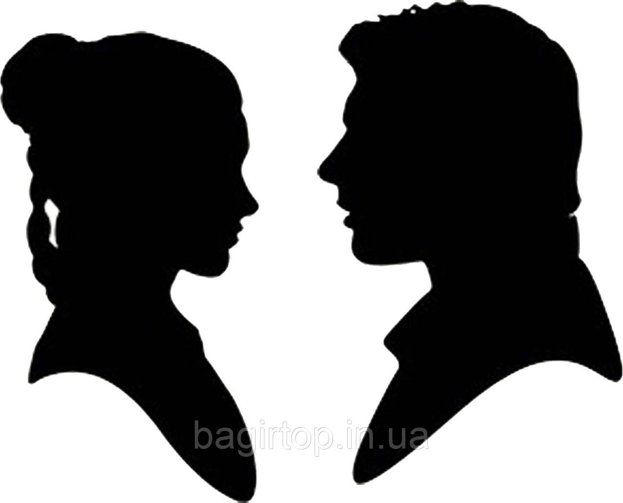 Виниловая наклейка- Пара