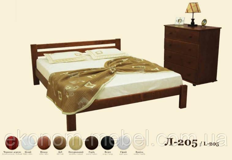 Кровать деревянная Л-205