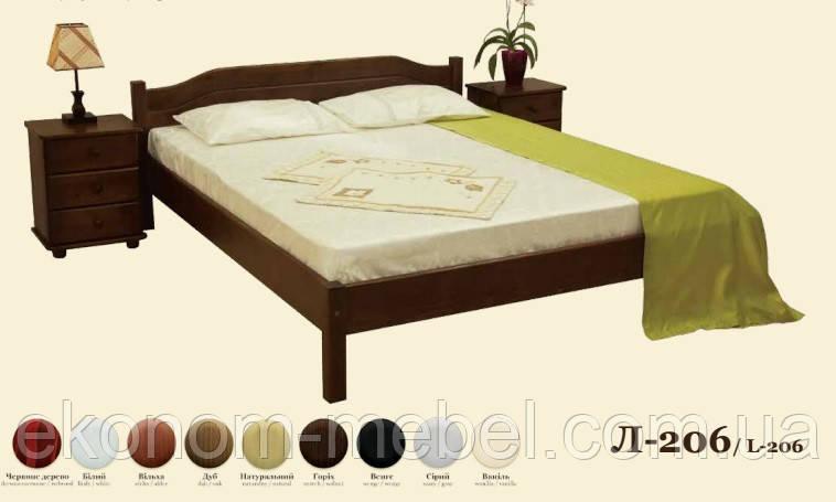 Кровать деревянная Л-206