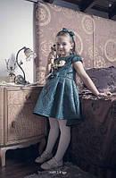 Платье на девочку зеленое
