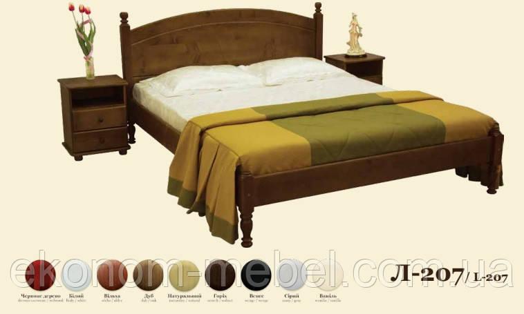 Кровать деревянная Л-207