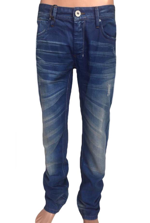 Мужские джинсы стильные FB 13-003 Blue Blue