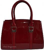 Женская сумка  лаковая с рамочками