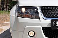 Накладки на передние фары (реснички) Suzuki Grand Vitara 2008-2012 г.в. Сузуки Гранд Витара