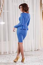 ДС1246 Платье-футляр с баской, фото 3