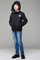 Весенняя куртка черного цвета, для мальчика, прямого кроя