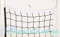 Сетка для волейбола 4890 с металическим тросом: 9,5x1м, ячейка 11x11см