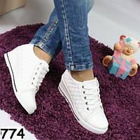 Женские белые ботиночки-сникерсы 774