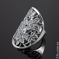 Женское серебряное Кольцо Весна