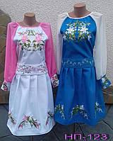 Вышитое платье для девочек с шифоновыми рукавами.