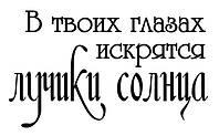 Виниловая наклейка-надпись (лучики солнца) (от 10х25 см)