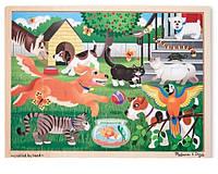 Пазл начального уровня Melissa & Doug Домашние животные 24 эл. (MD19059)