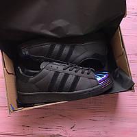 Кроссовки Adidas Superstar 80´s Metal Toe black. Живое фото. Топ качество! (адидас суперстар)