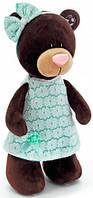 Мягкая игрушка Orange Choco & Milk Медведица стоящая в зелёном платье 25 см (M5044/25)