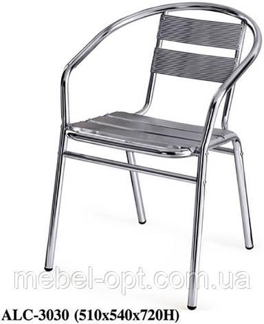Стул-кресло ALC-3030 алюминиевый для летних открытых площадок кафе, ресторана, гостиницы, дачи, фото 2