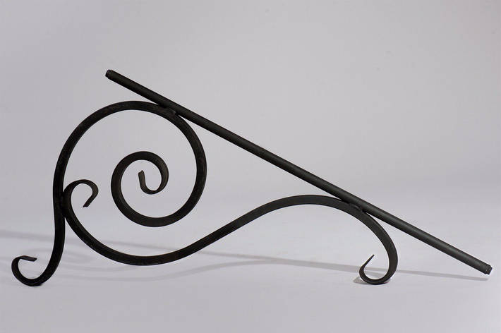 Элемент кованый наклонный для навесов, козырьков комплект, фото 2
