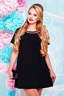 Женское батальное черное платье Маркиза Lenida 50-60 размеры