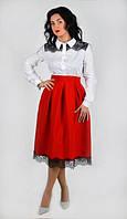 Молодежная юбка красного цвета