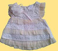 Платье для новорожденной, ретро, молочного цвета, 3 м