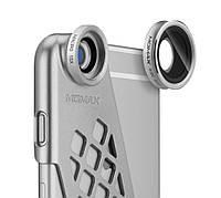 Чехол-накладка + набор линз Momax X-Lens Ace for iPhone 6 Plus/6S Plus, серебро