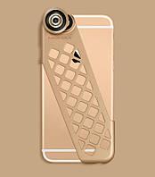Чехол-накладка + набор линз Momax X-Lens Ace for iPhone 6/6S, золото