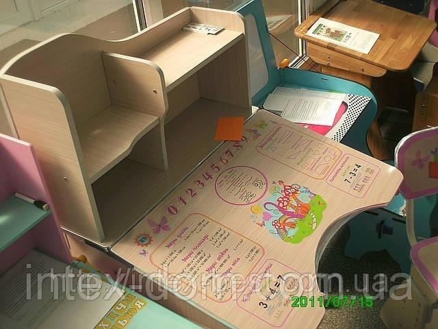 Детская парта+стульчик HBF2071-02 розовая(от 2-х до 70-ти лет!) ЛАМИНАТ. киев