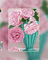 """Схема для вышивки бисером на подрамнике (холст) """"Букет чайных роз"""""""