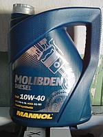 Полусинтетическоемоторное масло Mannol Molibden Diesel 10W40 5L