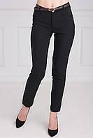 Красивые молодежные брюки из костюмной ткани с поясом на талии
