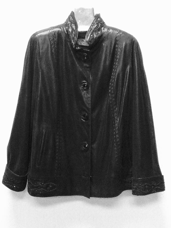 Кожаная женская куртка РАЗМЕР+