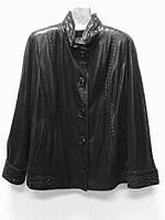 Кожаная женская куртка РАЗМЕР+, фото 1