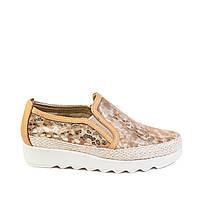 Туфли женские The FLEXX А158/43 золот. нуб., фото 1