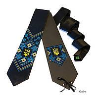 Вышитый галстук с национальной символикой (тризуб)