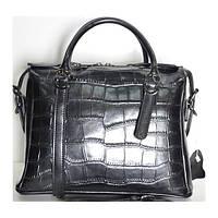 Брендовая кожаная женская сумочка Fashion черная