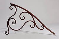 Элемент кованый для навесов округлый, козырьков Альфа комплект, антическая бронза