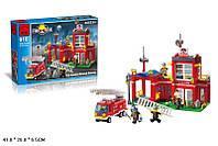 """Конструктор типа лего """"Пожарная станция"""" (380 деталей), ТМ Brick,  910"""