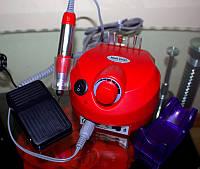 Фрезер для маникюра и педикюра Nail Drill ZS-601 15 Вт, на 35000 об, красный