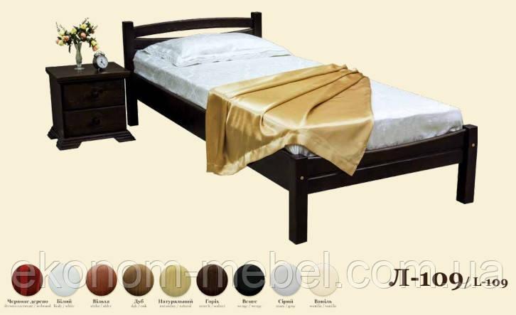 Кровать деревянная Л-109