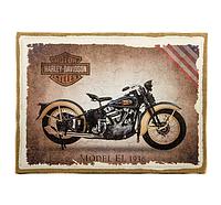"Картина с мешковины ""Harley Davidson"" темная"