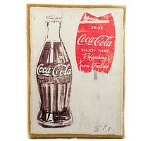 """Картина с мешковины """"Coca Cola"""""""