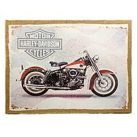 "Картина с мешковины ""Harley Davidson"""