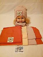 Шапочка для девочек хамут+ шарф