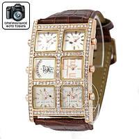 Часы Icelink 6time zone diamond brown gold/white