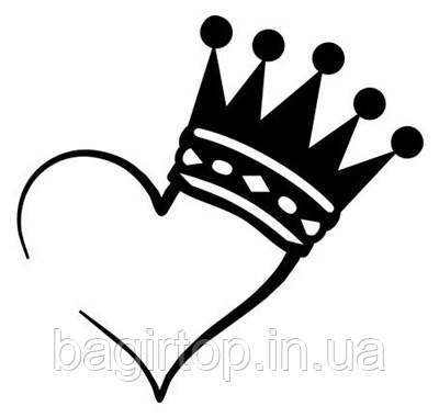 Виниловая наклейка-Корона сердце