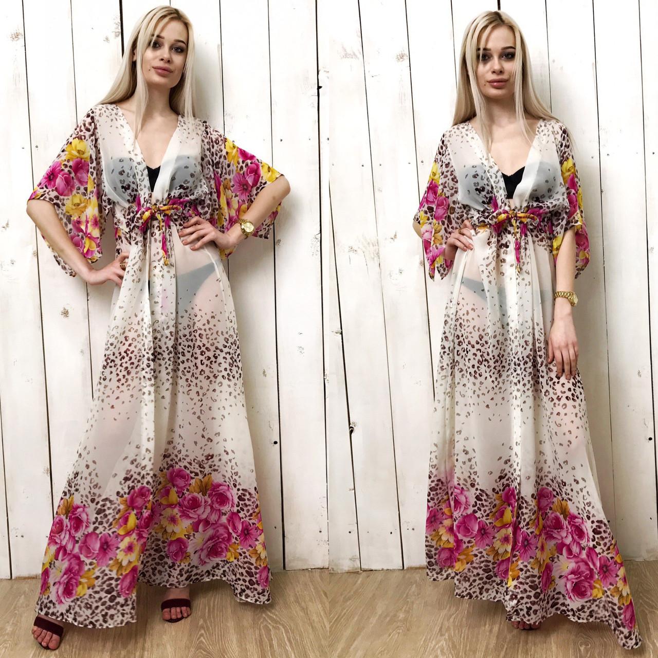 79a3523d9f93a70 Женское пляжное платье в пол шифон, цена 390 грн., купить в Одессе ...