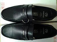 Стильные мужские чёрные мокасины Bertoni, фото 1