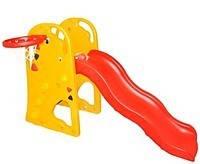 Детская горка с баскетбольным кольцом «Мишка» Bambi XY 801 (спортивно-игровой комплекс), фото 2